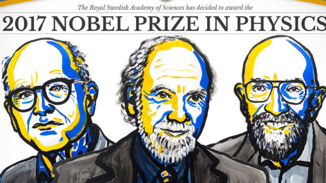 Rainer Weiss, Barry Barish and Kip Thorne share 2017 Nobel Prize in Physics, 2017