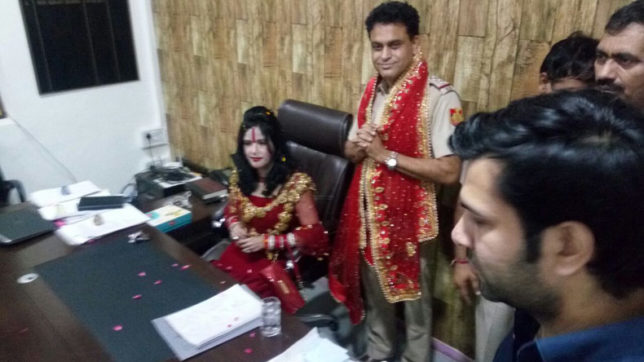 Radhe Maa receives grand welcome in Delhi's Vivek Vihar police station; sits on SHO seat