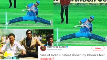 MS Dhoni's epic split from the India-New Zealand 2nd encounter is a hit meme now