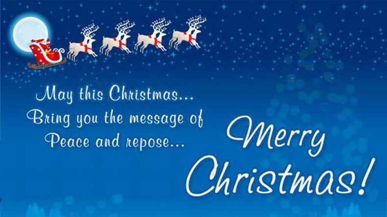may this christmas bring you the message of peace and repose merry christmas