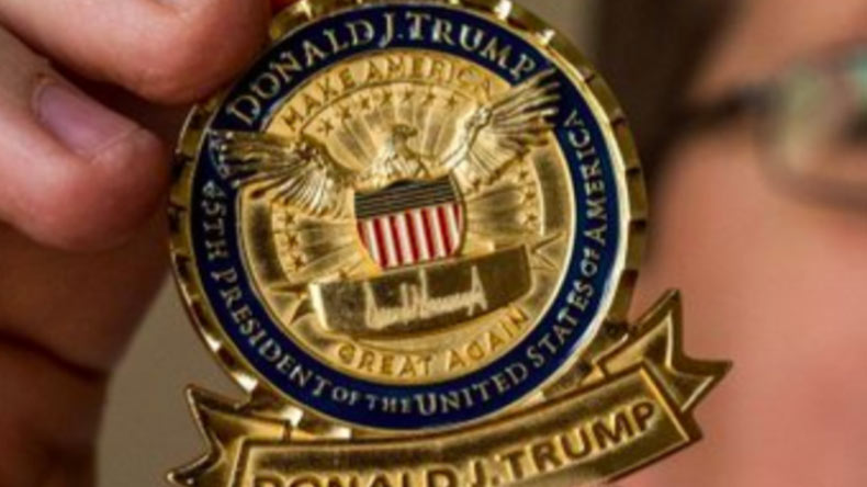 Net Neutrality Vote >> Donald Trump adds 'Make America Great Again' to presidential challenge coin - NewsX