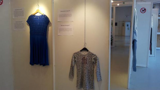 This exhibition showcase rape victim clothes to prove clothes does'nt incite attack