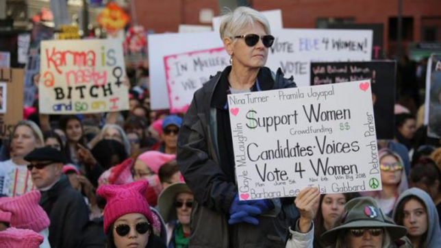 Women's March in US on first anniversary of Donald Trump administration