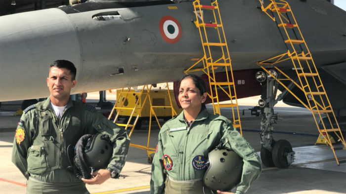 Watch: Defence Minister Nirmala Sitharaman gives a thumbs-up as she flies in Sukhoi-30 MKI