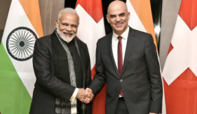 PM Modi holds bilateral meeting with Swiss President Alain Berset