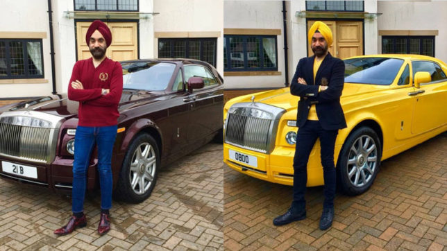 Meet the Sikh businessman who complemented his turban with a matching Rolls Royce