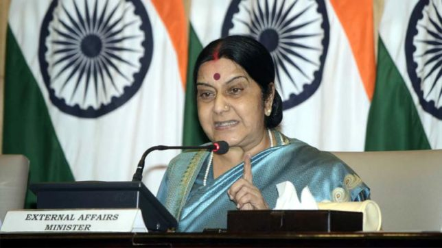 Sushma Swaraj confirms release of missing oil tanker with 22 Indians aboard