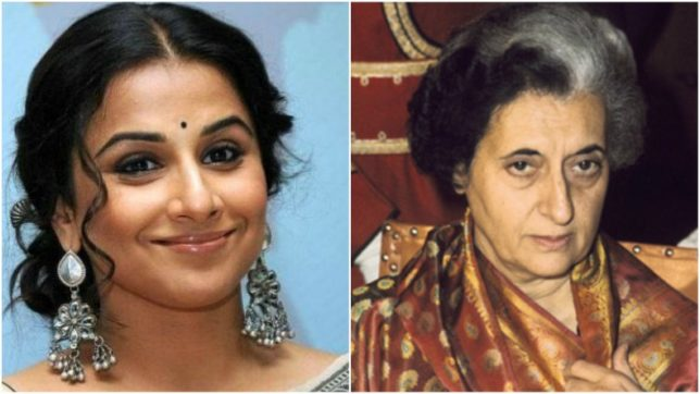 vidya balan to essay former prime minister indira gandhi on screen  vidya balan to essay former prime minister indira gandhi on screen