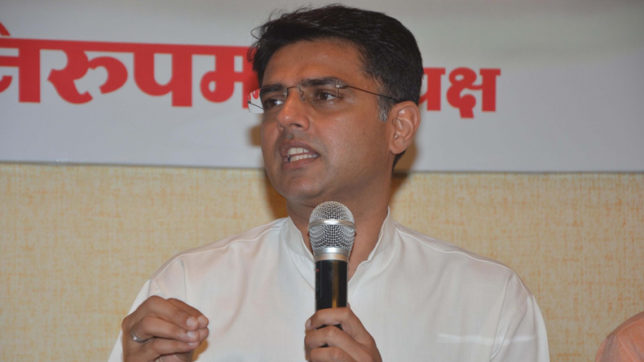 WATCH-Sachin-Pilot-embarrassing-slip-of-tongue;-says-Congress-will-suffer-a-clean-sweep-in-Rajasthan