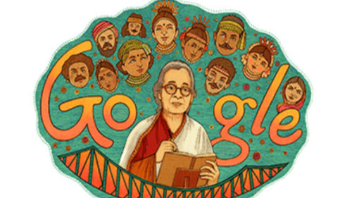 On her 92nd birth anniversary, Google pays tribute to writer Mahasweta Devi with a doodle