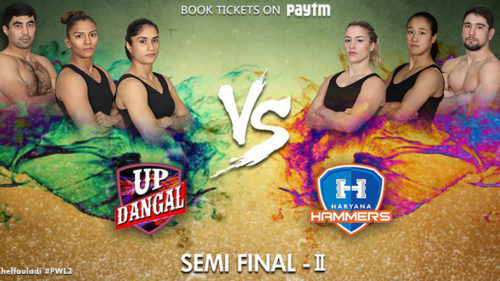 Pro Wrestling League Season 3 Semifinal 2 Live Updates: Haryana Hammers lead by 3-1 against UP Dangal