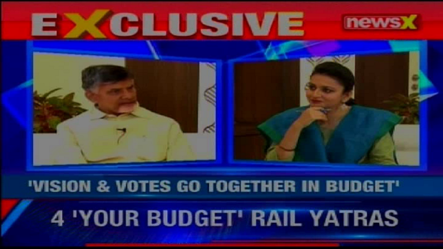 NewsX  Exclusive: Andhra Pradesh CM Chandra Babu Naidu in speaks over upcoming Union Budget