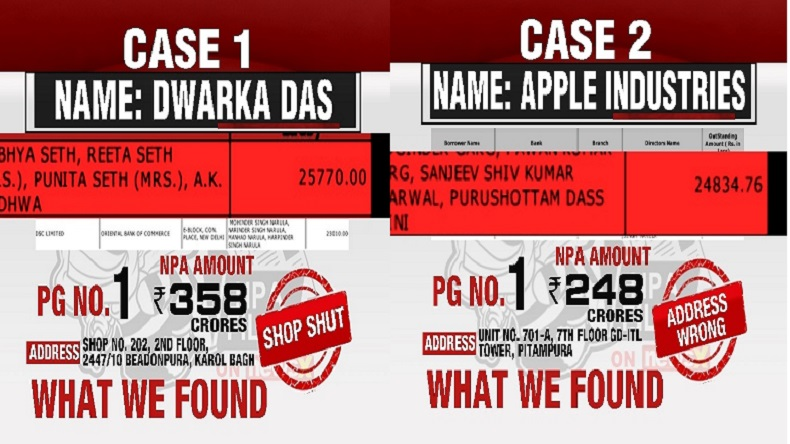 NPA files on NewsX: Dwarka Das owes Rs 358 crores while Apple industries owe Rs 248 crores