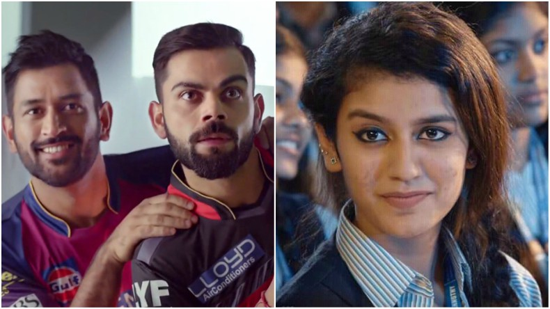 Even Virat Kohli and MS Dhoni can't resist the viral magic of social media sensation Priya Prakash Varrier's beautiful smile in these memes