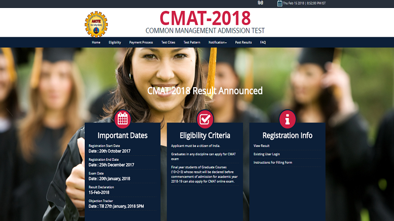 CMAT result 2018: Common Management Admission Test results declared @aicte-cmat.in