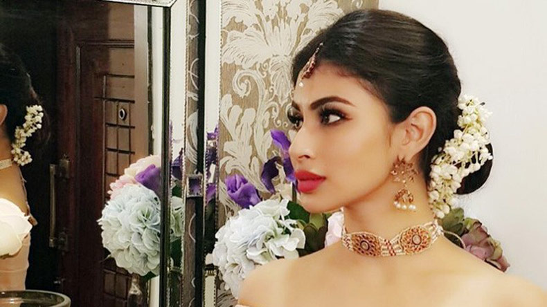 Elegant Mouni Roy, morning sun and Frankenstein, see picture