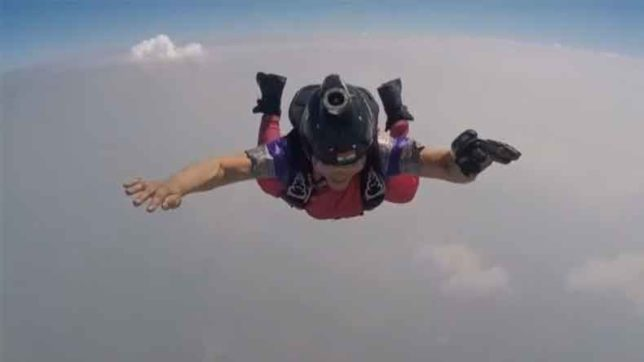 Pune adventurist Shital Rane Mahajan sets new record; skydives from 13,000 feet donning a saree