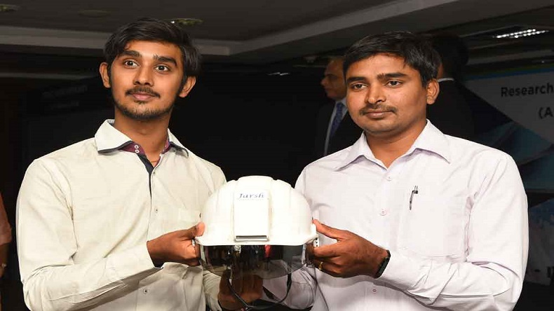 AC helmet, air-conditioned helmet, engineering graduates, Jarsh company, national news, India news, regional news, Hyderabad firm, AC helmet, construction workers, Telangana CM, industrial workers, invesnts, science news, technology news, offbeat news, good news