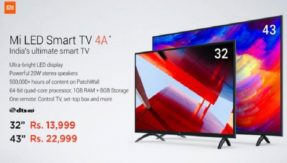 Xiaomi launches Mi TV 4A series in Indian markets; price starts Rs 13,999