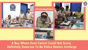 Mumbai Police fulfils dream of 7-year-old cancer patient, Inspector for a day