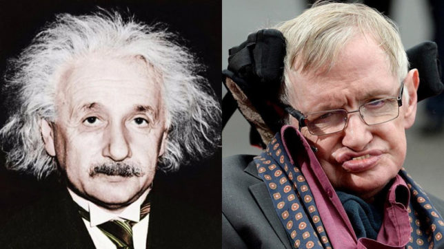 Find out the link between Stephan Hawking's death and Albert Einstein