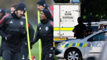 Manchester United manager Jose Mourinho's hotel had to be cordoned off