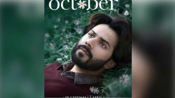 October first look, October poster, October new poster, October movie, varun dhawan, varun dhawan film, varun dhawan movie, varun dhawan upcoming films, october release date, entertainment news