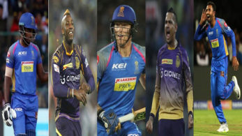 Indian premier league 2018, IPL 2018, IPL updates, kolkata knight riders, 5 players to watch out for, rajasthan royals, match preview, shreyas gopal, sanju samson, ben stokes, andre russell, sunil narine, dinesh karthik, ajinkya rahane