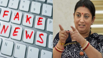 Smriti Irani has stated that if any journalist is found to have created any fake news or propaganda, the journalist's accreditation will either be cancelled permanently or will be suspended for an indefinite time period