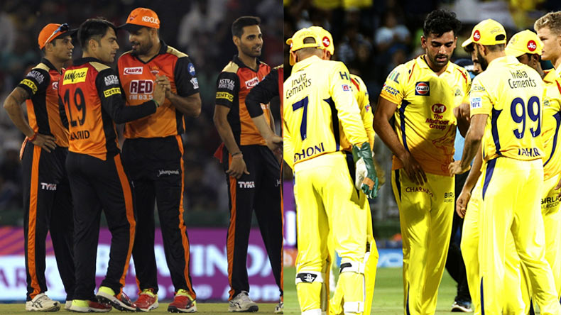 Sunrisers Hyderabad v Chennai Super Kings, Sunrisers Hyderabad, Chennai Super Kings, SRH VS CSK, MS Dhoni, Kane Willamson, Shane Watson, Suresh Raina, Bhuvneshwar Kumar, IPL NEWS, IPL 2018, IPL, Indian Premier League, Cricket News, Cricket