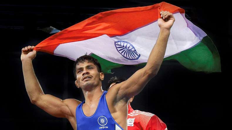 CWG 2018: Wrestler Rahul Aware wins gold in freestyle 57 kg category