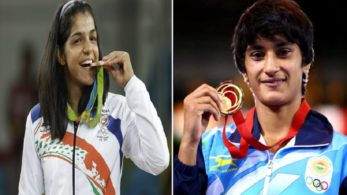 cwg, cOMMON WEALTH GAMES, cwg 2018 INDIA, wrestling, WRESTLERS, Sumit Malik, Vinesh Phogat, Sakshi Malik, Somveer, GOLD MEDAL, SILVER MEDAL, BRONZT MEDAL, SPORTS NEWS, NEWSX