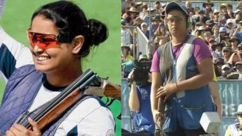 Shreyasi Singh edged past Australia's om in a nail-biting shoot-off in women's double trap shooting competition