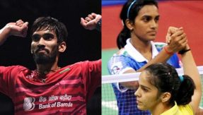 Srikanth-up-against-Lee-Chong;-Saina-Nehwal-wins-gold-as-PV-Sindhu-settles-for-silver