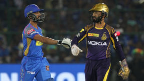 IPL 2018: Dinesh Karthik does a MS Dhoni to dismiss Ajinkya Rahane in RR win