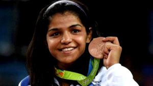 olympics, commonwealth games, india at cwg, cwg2018, sakshi malik, bronze medal, indian wrestlers, female medallist, india in olympics, rio2016, gold coast 2018, indian athletes in cwg2018, iaf