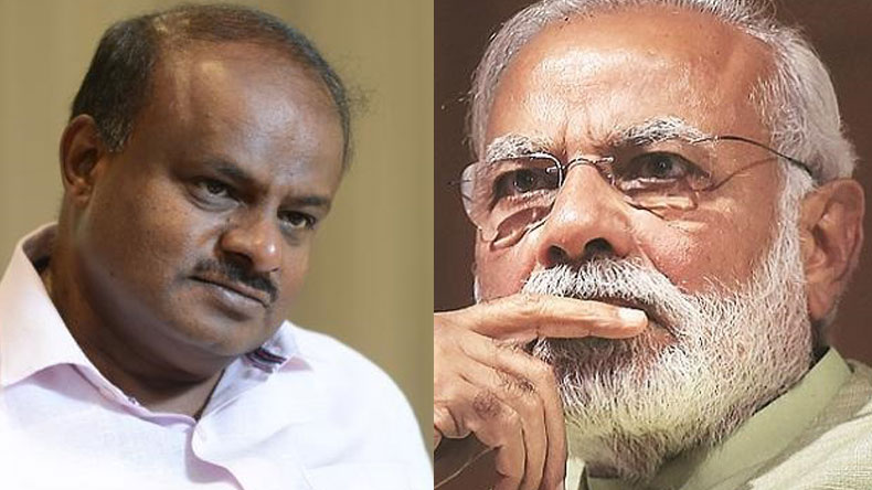 PM Modi wishes CM Kumaraswamy and Deputy Parameshwara for their tenure