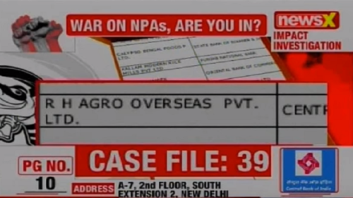 NPA files on NewsX: RH Agro Overseas Pvt Ltd owes Central Bank of India Rs 11 crore