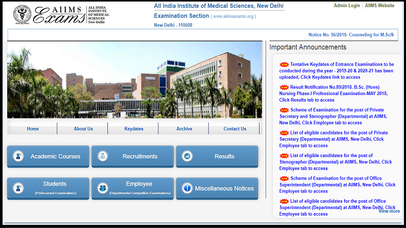 AIIMS MBBS 2019 Entrance Exam Date and Time revealed, check @ aiimsexams.org