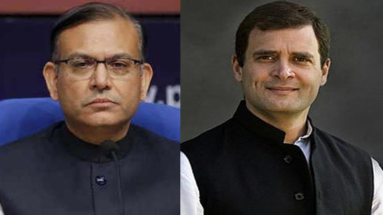 Jayant Sinha,Rahul Gandhi,Congress,Ramgarh Lynching case,LIVE debate,Harvard University,BJP,Garlanding,Jayant Sinha Garlanding issue,meat exporter