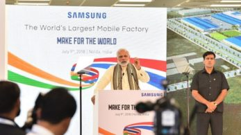 PM Modi news, India 2nd largest mobile producer, Samsung prices news, Make in india, Mobile phone prices news, PM Modi, Noida, Samsung, Make-in-India initiative