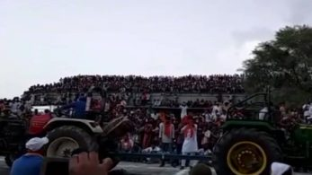 Rajasthan, Sriganganagar, shed collapsed during tractor race event, shocking, India news