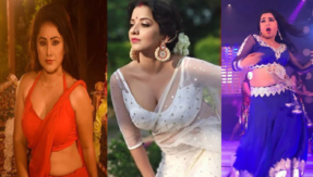 Bhojpuri stars Monalisa, Priyanka Pandit and Amrapali Dubey swing it in the rain, every rain