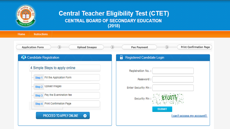 CBSE CTET 2018: Register and apply online for CTET 2018 @ Ctet.nic.in, Steps to apply given here