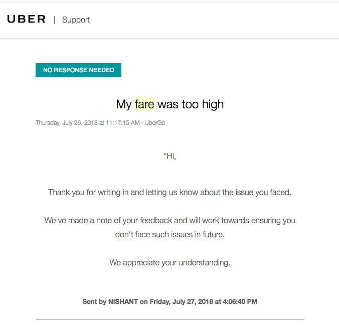 Uber in India is cheating the customers