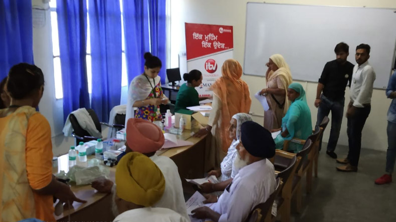 iTV foundation,iTV foundation health camp,iTV foundation health camp in Bhatinda,Max India Foundation,Max India life insurance,Max health care,SVCT, NGO,Baba Farid Group of Institutions,Mayor of Bhatinda Balwant Rai Nath,MLA,professor,Baljinder Kaur,health camp,Punjab
