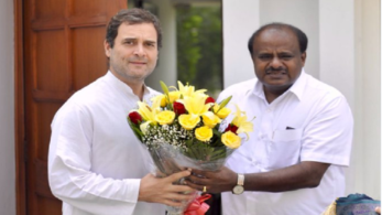 CM Kumaraswamy's meeting with Congress scion came on the eve of the JDS-Congress Coordination Committee meeting
