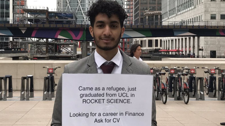 A refugee rocket scientist and his job hunt that went viral