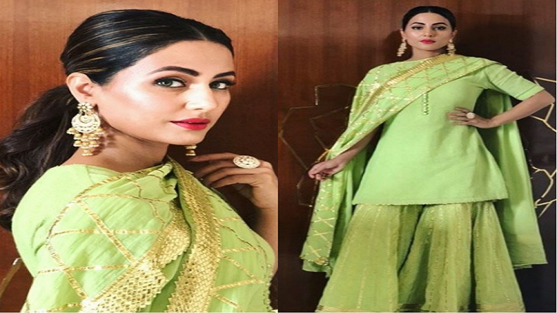 Hina Khan Looks Like An Angel In Her Traditional Outfit See Photo