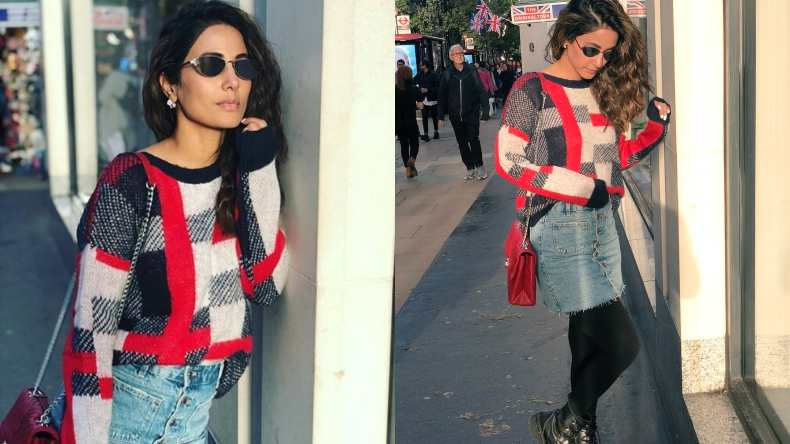 Hina Khan Turns Up Temperatures With Her Denim Look In London See